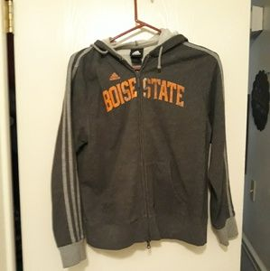Last chance  Boise State distressed sweatshirt